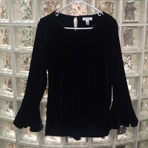 NWOT Never worn Midnight Blue Velvet Bell Sleeves
